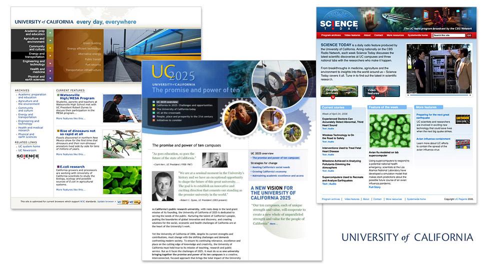 University of California Advocacy Sites
