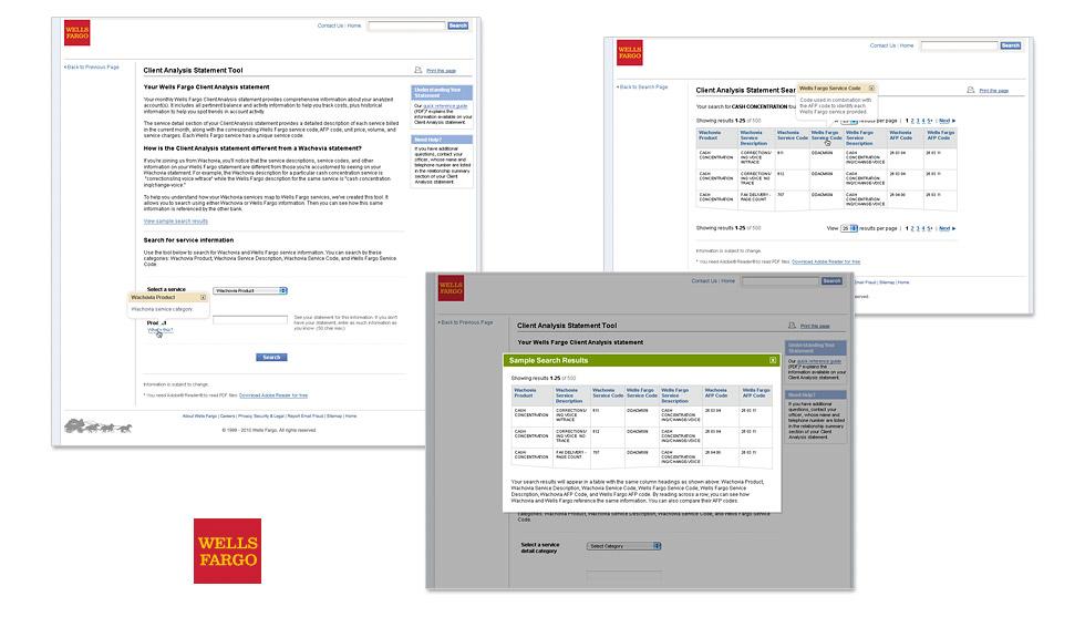 Wells Fargo Online Lookup Tool